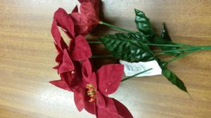 VELVET POINSETTIA BUSH 7485R out of stock